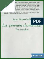 Starobinski Jean. La Posesion Demoniaca. Tres Esudios.