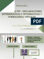 Llenado Pdt - Declaraciones Determinativas e Informativas - Formularios Virtuales