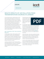 Health impacts of air pollution from transportation sources in London