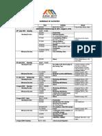 AIDIA 2019 Schedule of Activities
