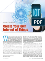 Create Your Own Internet of Things a Survey of IoT Platforms