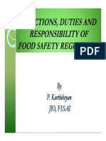 Presentation on Functions, Duties and Responsibility of Food Safety Regulators by Sh.P.karthikeyan
