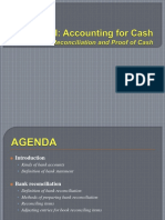 Unit I - Accounting for Cash - Bank Reconciliation
