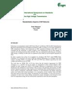 Standardization Aspects of UHV Networks