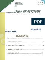 Formation of Attitude