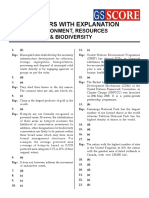 Answers With Explanation Environment, Resources & Biodiversity.pdf