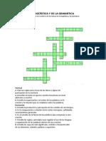 Pasatiempos linguistica y Crucigrama