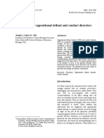 A Review of Oppositional Defiant and Conduct Disorders