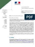 Lettre de rentrée - IAIPR de Lettres - Année 2018-2019