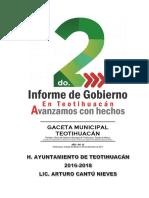 2do. Informe de Gobierno Teotihuacán