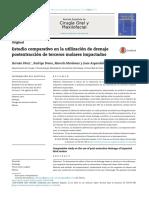 Estudio Comparativo en La Utilización de Drenaje