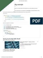 Spring 3 JavaConfig Example