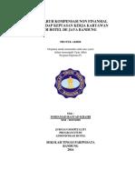 2014 Pengaruh Kompensasi Finansial Dan Non Finansial Terhadap Produktivitas Kerja Karyawan (Simamora 2004)