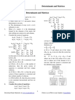 Determinants and Matrices