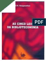 As Cinco Leis da Biblioteconomi - Ranganathan.pdf