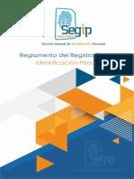 Reglamento Del Registro Unico de Identificacion Personal Lo Último Enero 2018