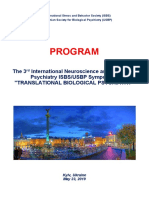 """Program and Abstracts - 3rd International Neuroscience and Biological Psychiatry ISBS Symposium """"TRANSLATIONAL BIOLOGICAL PSYCHIATRY"""", May 23, 2019, Kyiv, Ukraine"""