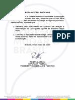 Nota oficial do Podemos