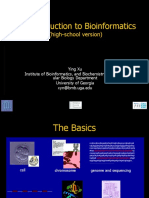 Bioinformatics for High School