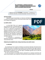 OBJETIVO DE LA ACTIVIDAD Comprender y caracterizar los elementos naturales y culturales del paisaje  de la Zona norte Chico..docx