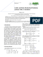 On Balancing Acidic and Basic Reduction/Oxidation Reactions with a Calculator