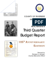 Riverside County Third-Quarter Budget Report for Fiscal 2018/2019