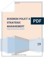 Business  policy and strategy management