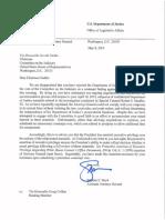 Boyd Letter to Nadler Invoking Executive Privilege