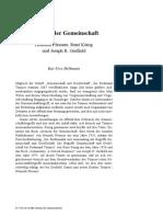 HELLMANN, 'Grenzen Der Gemeinschaft. Helmuth Plessner, René König Und Joseph R. Gusfield'