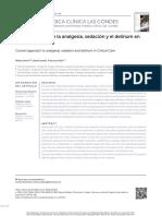 uso de la analgesia y la sedación en pacientes con delirium