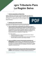 Reintegro Tributario Para La Region Selva