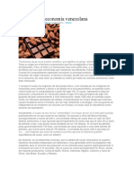 El Cacao y La Economía Venezolana