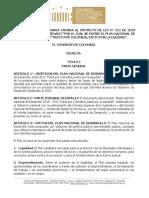 Texto aprobado Plan Nacional de Desarrollo