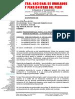 Carta N° 001 a Pte. Vizcarra