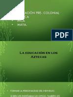 La Educación Pre-Colonial