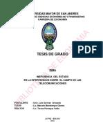 INEFICIENCIA DEL ESTADO  EN LA INTERVENCIÓN SOBRE EL CAMPO DE LAS TELECOMUNICACIONES.pdf