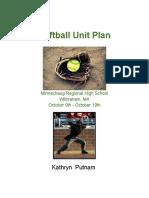 final unit plan - softball  1