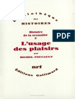 M. Foucault - Usage Des Plaisirs