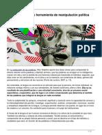 La Neolengua Como Herramienta de Manipulacion Politica Por Luis Alfonso Herrera