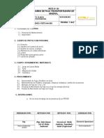 PROCEDIMIENTO N- 01 - Transporte de Mineral