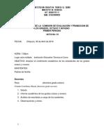 Acta Comision y Eva 1 Periodo 2018