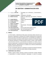 Silabo Gestion y Administ Web Jds 2019