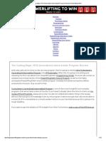 Intermediate Guide to RTS Powerlifting Program