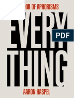 Aaron Haspel - Everything_ A Book of Aphorisms (2015, Good Books).epub