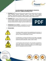 Protocolo de Mantenimientos y Cambio de Baterías