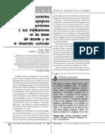 Las Corrientes Pedagogicas y Sus Implicaciones