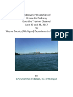 Grosse Ile Bridge underwater inspection 2017