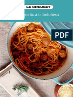 Receta Espaguetis Bolonesa LeCreuset