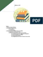 Manual del manejo de la biblioteca