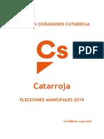 PROGRAMA Municipal Cs_Catarroja 2019 Castellano